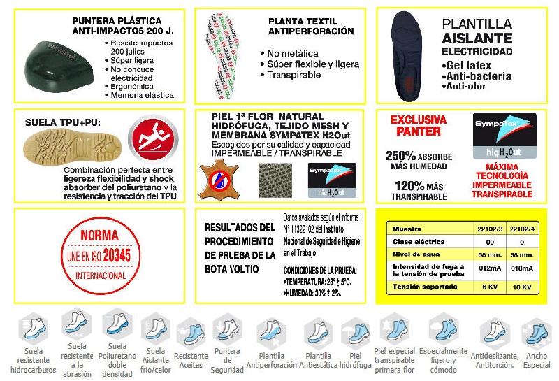 Bota SB C/Punt.-Plant. Panter Voltio