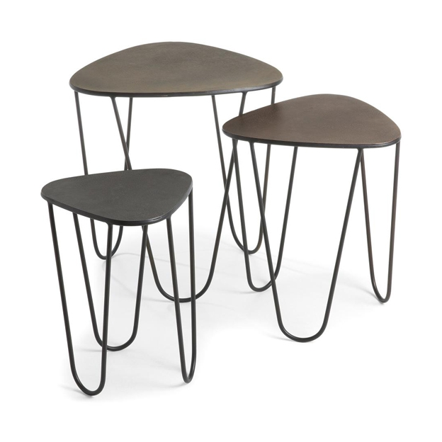 Set de 3 mesas nido. Colección Vertig