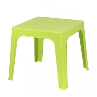 Mesa resina infantil Jan apilable. Color lima